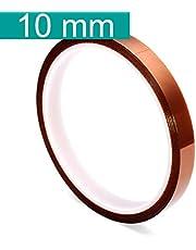 Youmile 5 storlek 5 mm 10 mm 20 mm 30 mm / 100 ft BGA hög temperatur film värmebeständig polyimid Kapton-tejp guldbeständig klibbig, Width: 10mm