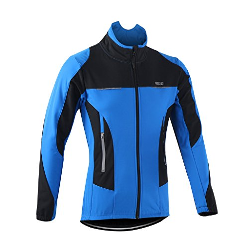 Jual ARSUXEO Winter Warm UP Thermal Fleece Cycling Jacket Windproof ... 8dbf1d218