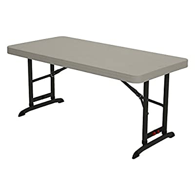 Lifetime Products 4 ft. Commercial Adjustable Folding Table