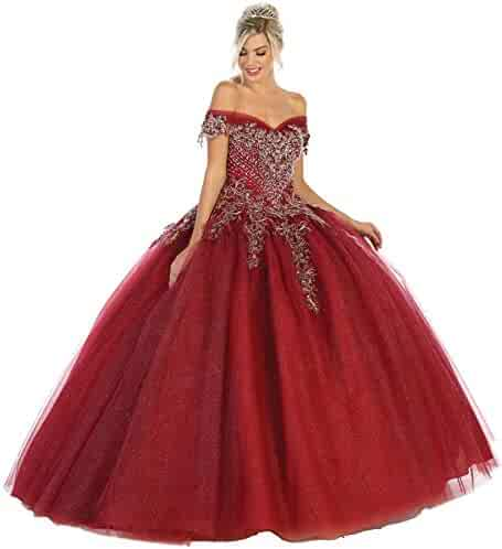 c7217037b1 Formal Dress Shops Inc FDS119 Stunning Off The Shoulder Ball Gown