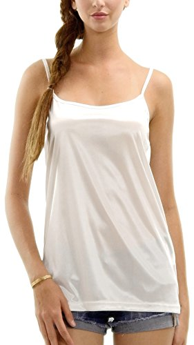 [Shop Lev] Women's Basic Satin Full Slip Top Camisole