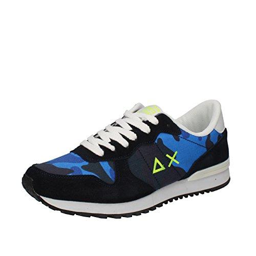 SUN 68 Sneaker Uomo Tessuto Camoscio Blu multicolore