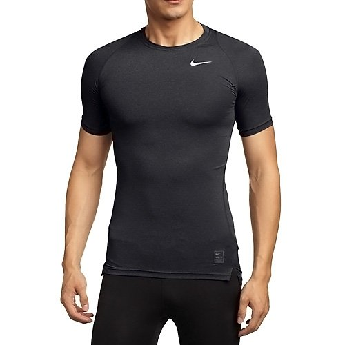 NIKE Men's Pro Cool Compression Short-Sleeved T-Shirt, Black/Dark Grey/White, (Nike T-shirts Basketball)