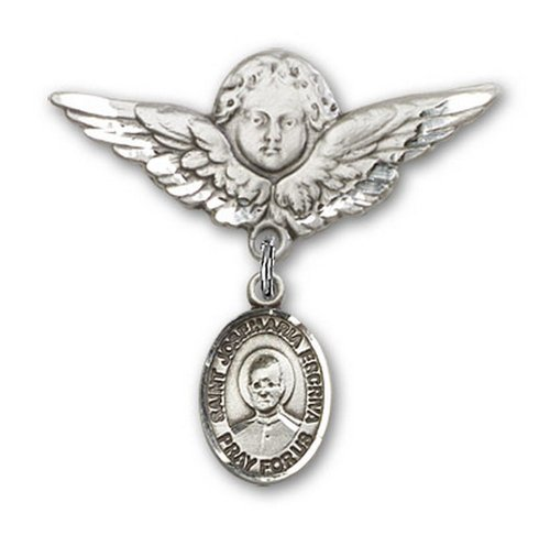 Icecarats Créatrice De Bijoux En Argent Sterling St. Josemaria Charme Escriva Broche De Badge Angel 1 1/8 X 1 1/8