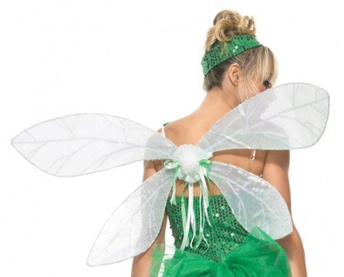 Leg Avenue Iridescent Pixie Wings, One Size, White -