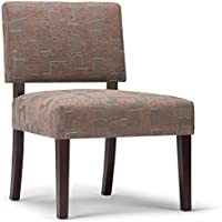 Simpli Home Virginia Accent Chair, Mid Century Patterened Brown