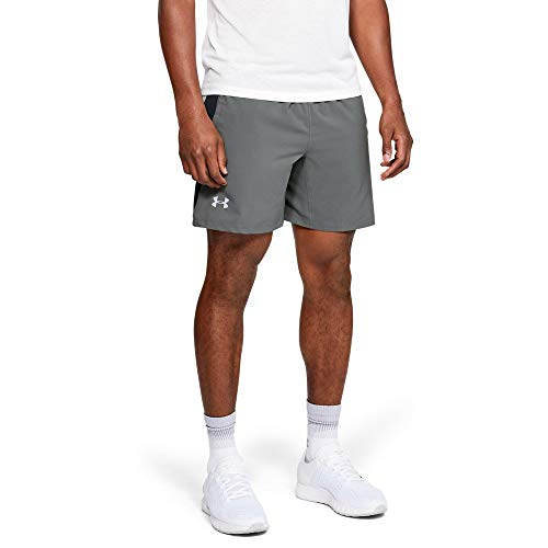 Under Armour Launch SW 2-in-1 Shorts, Pitch Gray//Reflective, X-Large by Under Armour (Image #1)