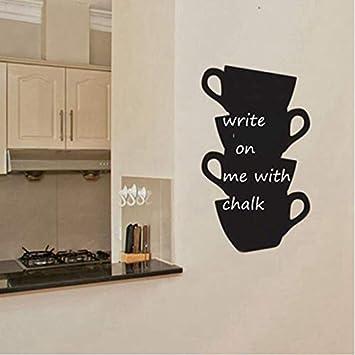 HAOWANGJIAO Pegatinas de Pared murales de Cocina café ...