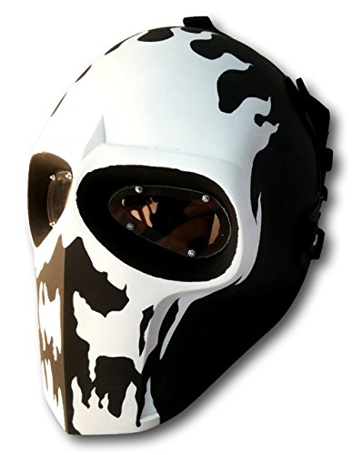 (Invader King ® Skull Flame Army of Two Airsoft Mask Protective Gear Outdoor Sport Fancy Party Ghost Masks Bb)