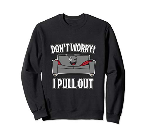 Don't Worry I Pull Out Couch Funny Sleeper Sofa  Sweatshirt