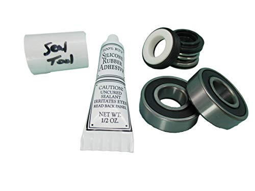 (2) Front Bearing & Seal Pump Parts Kit Fits Most Aqua-Flo Spa Hot Tub Pumps