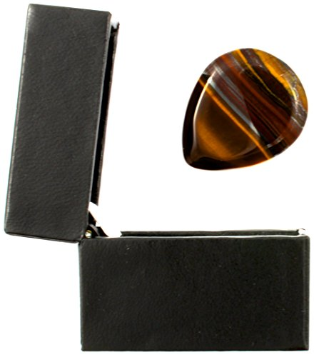 Tiger Tones - Banded Tiger Jasper - Individual Plectrum in a Gift (Banded Box)