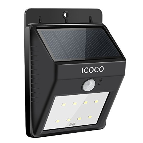 Icoco outdoor waterproof motion sensor solar bright security lights icoco solar lights 8 led wireless waterproof motion sensor outdoor light for patio deck aloadofball Gallery