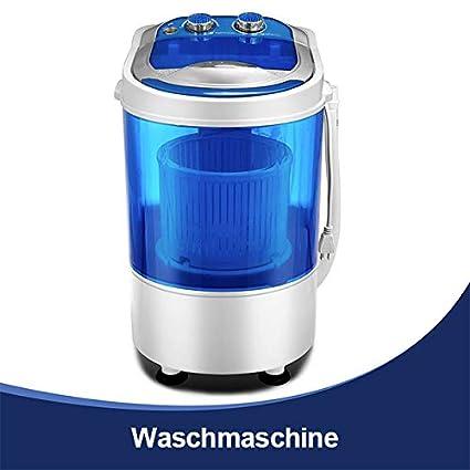 KUPPET Tragbare Waschmaschine, Mini-Waschmaschine fü r Single Waschmaschine mit Trockner und Schleuder Campingwaschmaschine billig (weiß , 7,6KG)