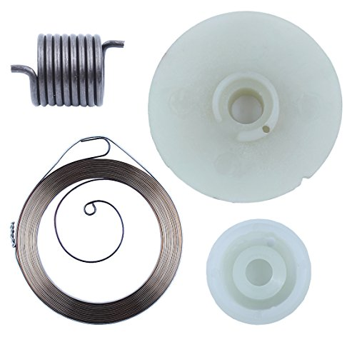 Haishine Recoil Rewind Pull Starter Spring Pulley Hub Kit for Husqvarna 142  137 E 142E 137E Petrol Chainsaws Replace Parts