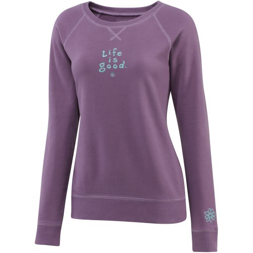 Life is Good Damen Soft Wash Crew Sweatshirt