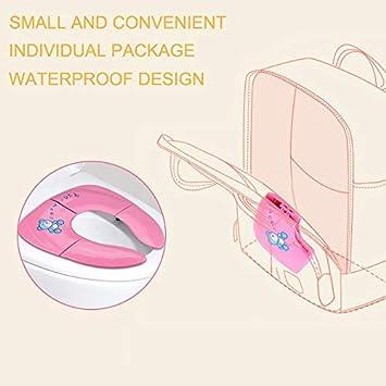 portatile riutilizzabile blu Copriwater pieghevole rosa da viaggio in silicone giallo grande per imparare a usare il vasino per neonati e bambini antiscivolo