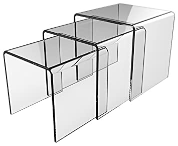 Cristalia Mia Table Gigognes Verre 42 X 42 X 42 Cm Amazonfr
