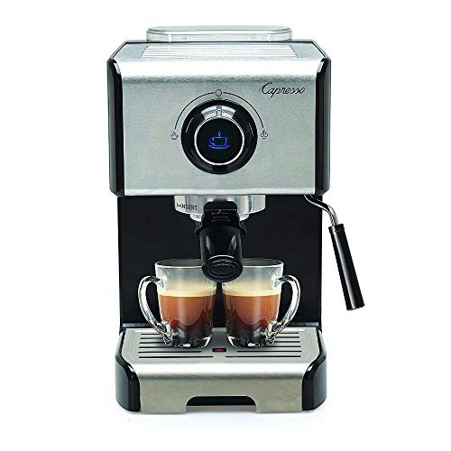 Capresso 123.05 EC300 Cappuccino Espresso Machine, 42, Stainless Steel/Black (Renewed)