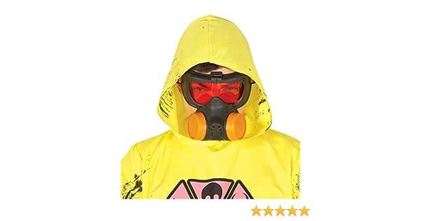 FIESTAS GUIRCA Mascarilla antigas radioactiva bioquímica para Disfraz de Zombie de Terror.