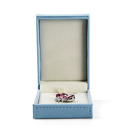 (Oirlv Sky Blue Jewelry Packaging Box Velvet Inside Jewelry Display Storage Case (necklacke/Pendant Box))