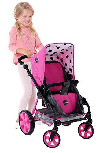 Hauck Toys for kids iCoo 3 in 1 Doll Stroller, Black and Pink by Hauck Toys for kids (Image #1)