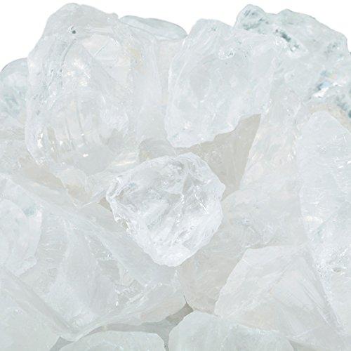 rockcloud 1 lb Natural Crystals Raw Rough Stones for Cabbing,Tumbling,Cutting,Lapidary,Polishing,Reiki Crytsal Healing,Clear Crystal Rock Quartz (Quartz Crystals In Bulk)