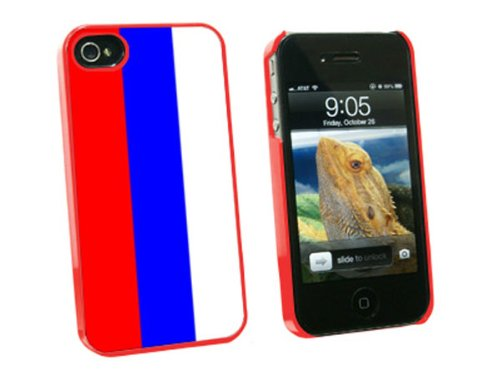 Graphics and More Russian Federation Flag - Snap On Hard Protective Case for Apple iPhone 4 4S - Red - Carrying Case - Non-Retail Packaging - Red