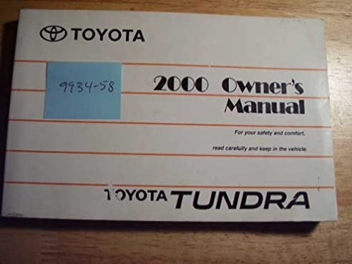 2000 toyota tundra owners manual toyota amazon com books rh amazon com Custom Toyota Tundra Toyota Tundra Diesel