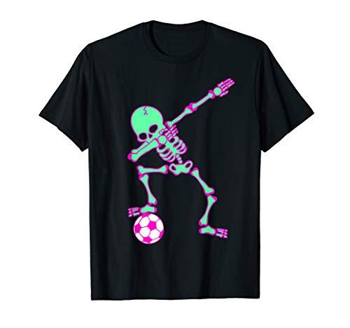 (Dabbing Skeleton Soccer Shirt, Halloween Dab Shirt,)