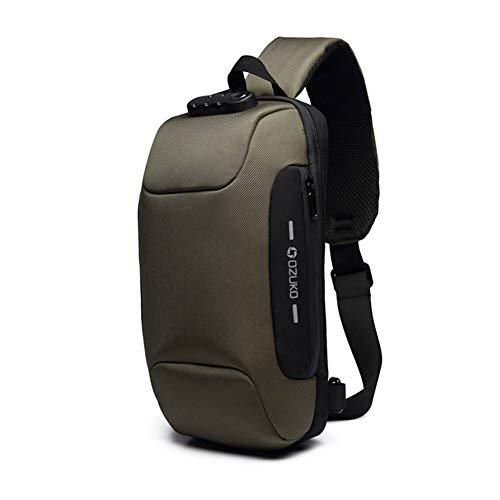 Ozuko Waterproof Chest Anti-Theft Backpack