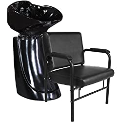 Professional Black Free Standing Salon Shampoo Unit
