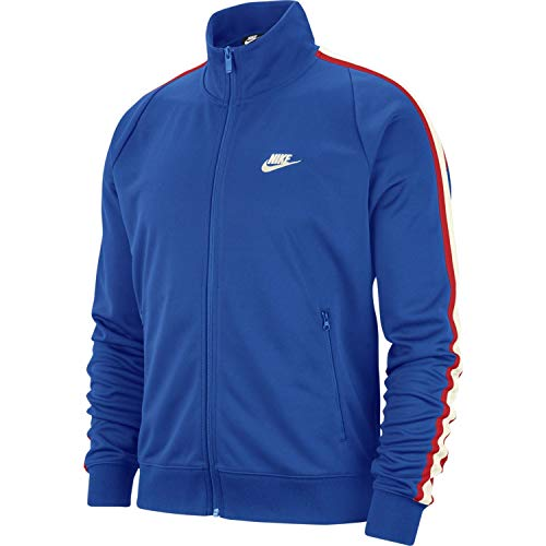 (Nike Mens N98 Tribute Track Jacket Game Royal Blue/White AR2244-480-Size X-Large)