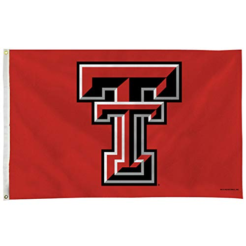 Texas Tech Single - Rico Industries NCAA Texas Tech Red Raiders 3-Foot by 5-Foot Single Sided Banner Flag with Grommets