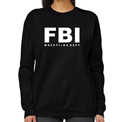 Teeburon FBI DEPT Wrestling Women Sweatshirt by Teeburon