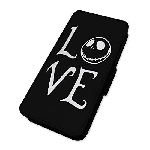 Jack Skellington Love Head–Custodia ad aletta in pelle copertura di carta Apple iPhone 6/6S