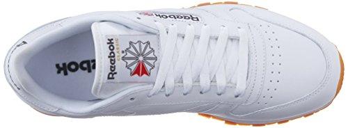 Reebok Heren Klassieke Lederen Mode Sneaker Us-white / Gum