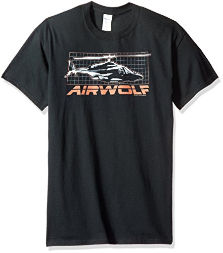 Airwolf Camiseta Adulta En Grid Negro RqxZRwrP0