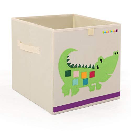 Foldable Storage Bins 13 Fabric Cube Box, | BabeForce-Organizer for Kids Toys, Stuffed Animals, Books & Clothes (Crocodile)