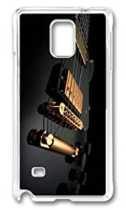 MOKSHOP Adorable Electric Guitar Hard Case Protective Shell Cell Phone Cover For Samsung Galaxy Note 4 - PC Transparent
