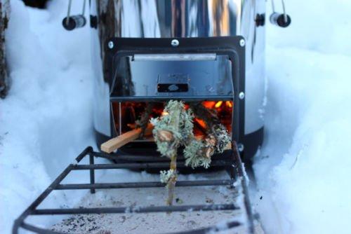 Estufa de leña notebookbits buscapé Silverfire biomasa cocina portátil al aire libre: Amazon.es: Jardín