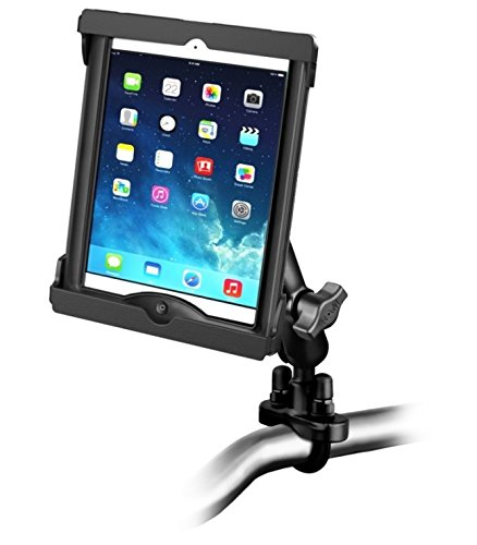 online store 2d9cd 0a504 Amazon.com: Motorcycle Clamping Mount Fits Apple iPad Air 1 2 w ...