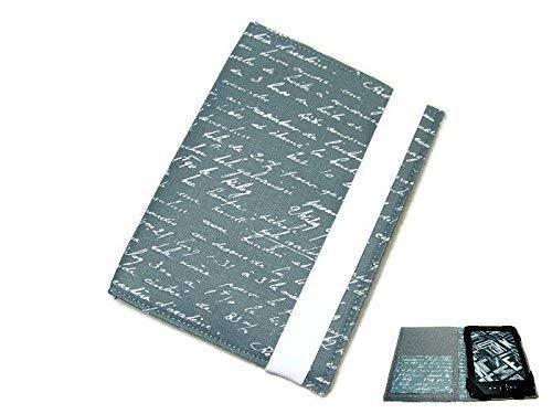 aufklappbare eBook Reader eReader Tablet Hülle Schrift anthrazit, Maßanfertigung, z.B. Kindle Paperwhite/Tolino Shine 2HD Maßanfertigung