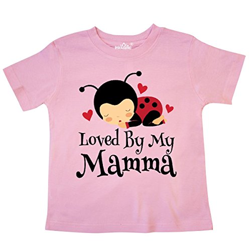 - inktastic - Loved by My Mamma Ladybug Toddler T-Shirt 4T Pink 309a4