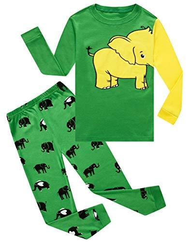 Family Feeling Elephant Baby Boys Long Sleeve Pajamas 100% Cotton Pjs Infant Size 18-24 ()