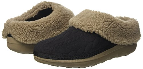Nero Caviglia Aperte Tm Fitflop Donna Loaff Sulla Quilted Pantofole x6caY8