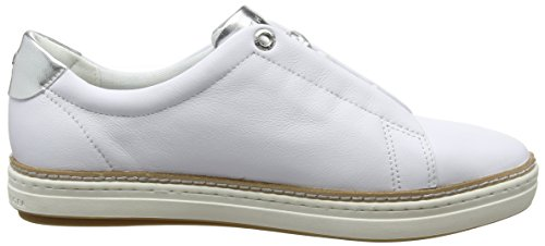 Tommy Sneaker white Leather Hilfiger Blanc Sneakers City Basses Femme 100 FZr1qF