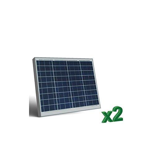 Peimar - Set 2 x Pannelli Solari Fotovoltaico 50W 12V tot. 100W Camper Barca Baita - SET2-50
