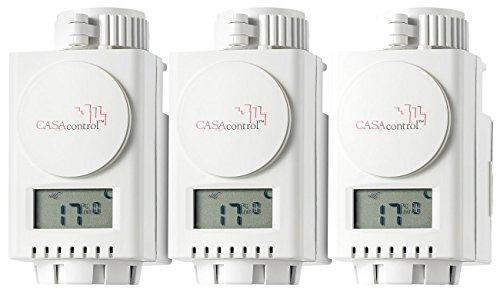 CASAcontrol Funk-Heizkörperthermostat für Premium und Deluxe, 3er-Set
