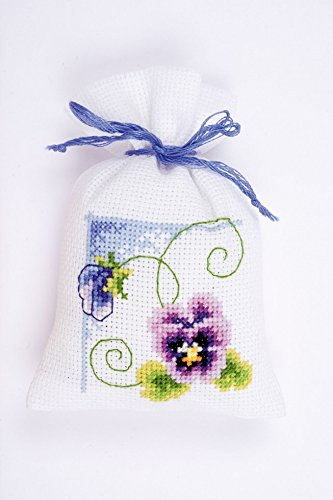 Vervaco Counted Cross Stitch Kit Pot Pourri Bag Viola 2